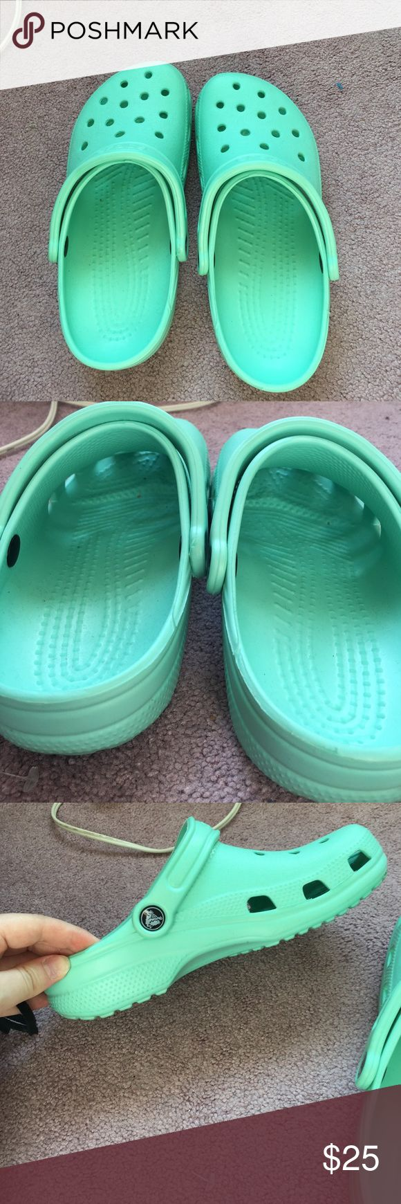 Mint Crocs Womens 8 Worn once! Great condition CROCS Shoes Mules & Clogs