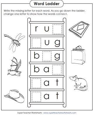 Worksheet Basic Phonics Worksheets 18 best phonics super teacher worksheets images on pinterest basic word ladder puzzle for teaching phonics
