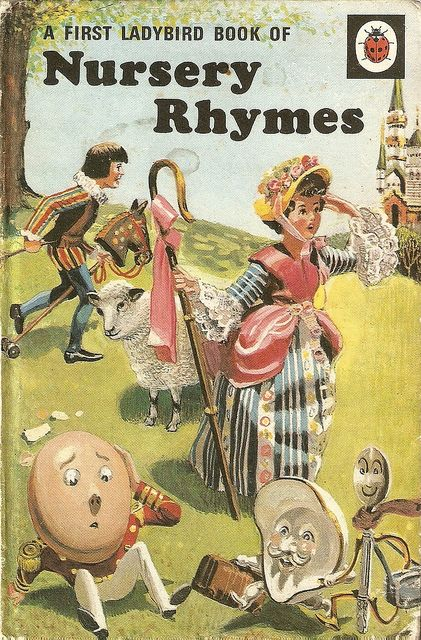 """A First Ladybird Book of Nursery Rhymes"", Ladybird Books Ltd., series 413, copyright 1965. Illustrator:- Frank Hampson"