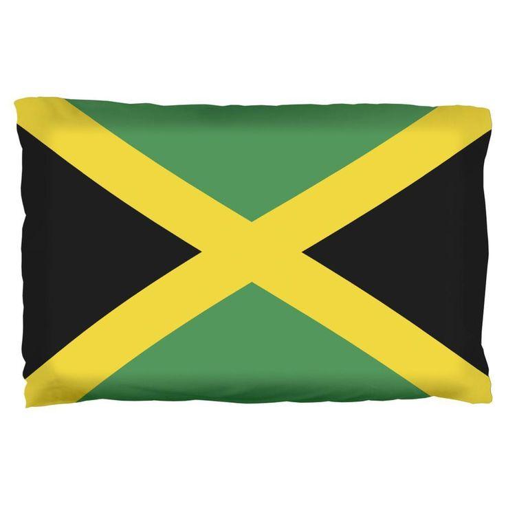 Jamaica Flag Pillow Case