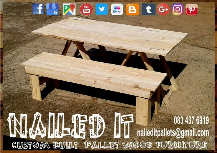 Pallet wood trestle table & bench combo #trestletables #trestletable #trestletableandbench #trestletableandbenchset #pallettrestletable #pallettrestletableandbench #customfurniture #custompalletfurnituredurban #palletfurniture #palletwoodtable #palletwoodfurnituredurban #palletwoodfurniture #naileditcustombuiltpalletfurniture #nailedcustompalletfurniture