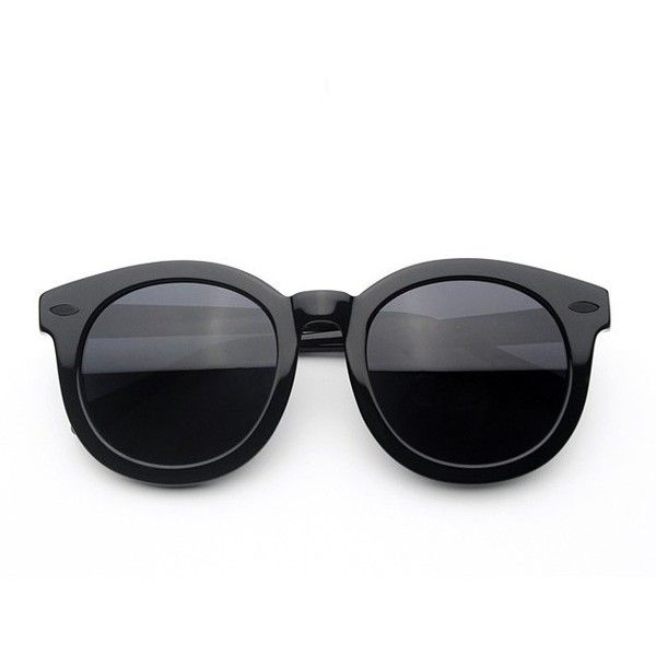 Prinkko Women's Classical All-match Popular Sunglasses ($13) ❤ liked on Polyvore featuring accessories, eyewear, sunglasses, glasses, black, black glasses и black sunglasses