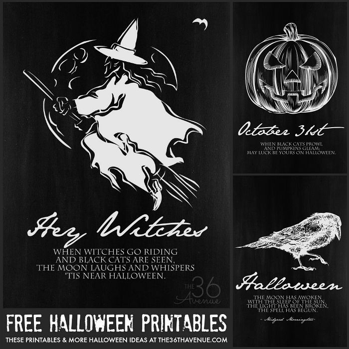 Best Free Halloween Printables Images On Pinterest  Free
