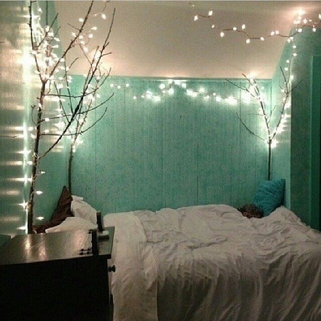 I love this. I'd use warm white lights, though.