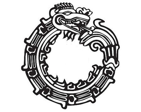 """The Mayan Ouroboruos symbol is that of a snake or a dragon eating its own tail. This tattoo symbolizes regeneration, rebirth or the process of constantly recreating oneself to adapt to new surroundings and situations. This tattoo should hold great inspirational value to those who believe in the need of constant image and mental makeovers to meet their goals and ambitions in life."""