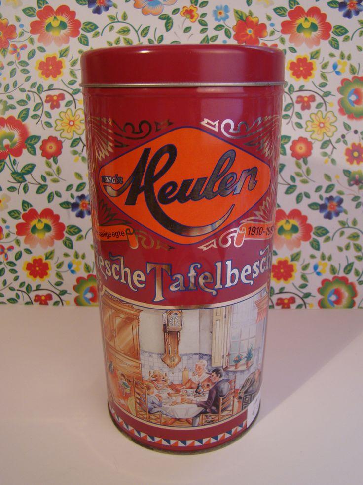 vintage beschuitblik van der meulen/ vintage tin van  #TanteSaartje#