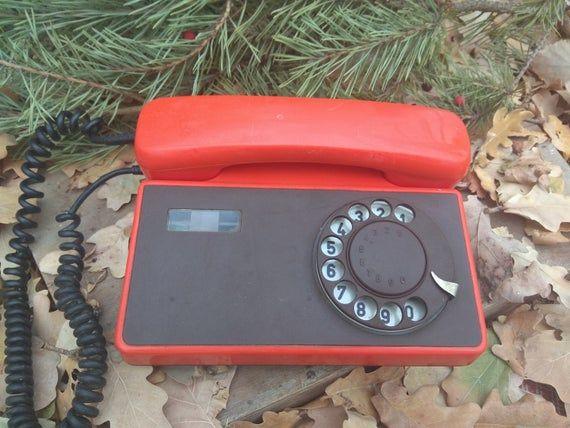 Vintage Rotary Dial Telephone Tesla-Stropkov  Czechoslovakia  80s Office Home Decor