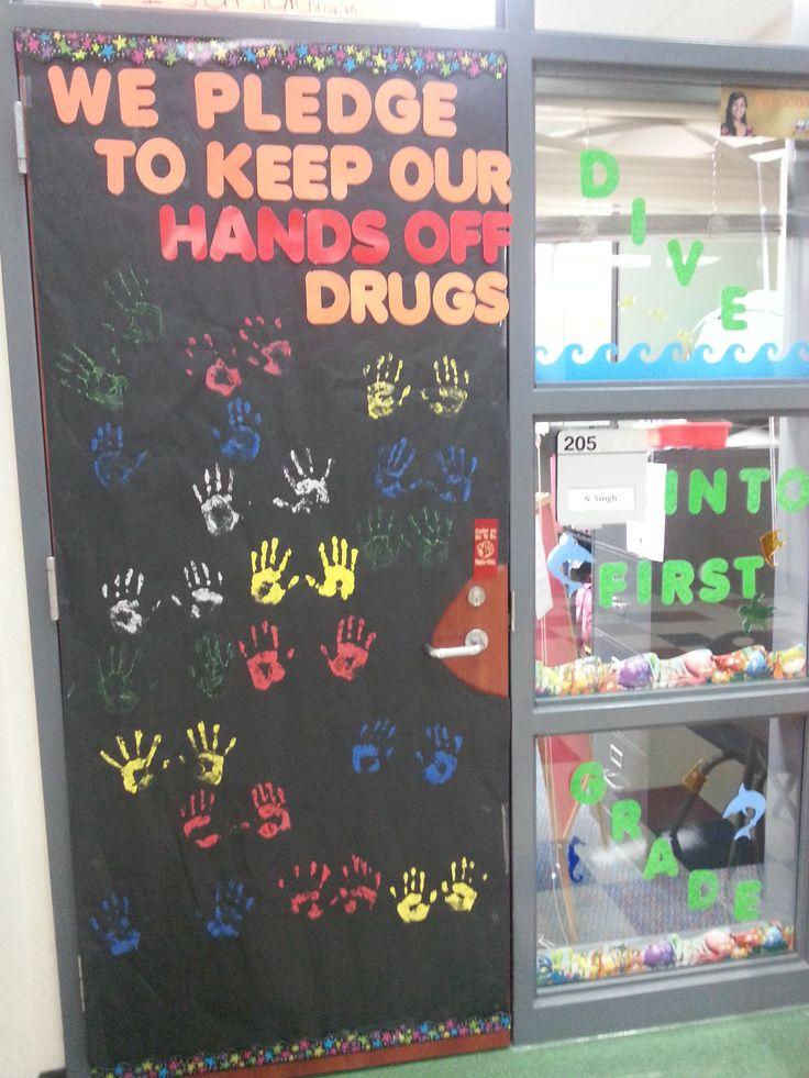 Drug Awareness Week Door Contest We Printed Our Hand