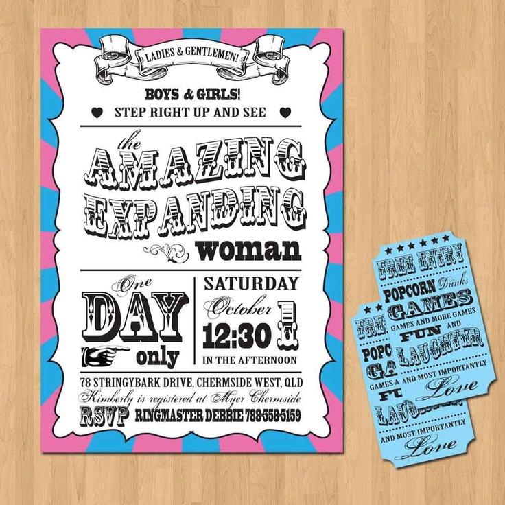 CircusCarnival Baby Shower Invitation DIY Set printable 1500