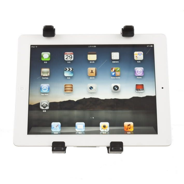 Universal Car Back Seat Headrest Mount Holder Stand Bracket Kit for iPad 2 3 Tablet GPS DVD Cradle Holder Stand