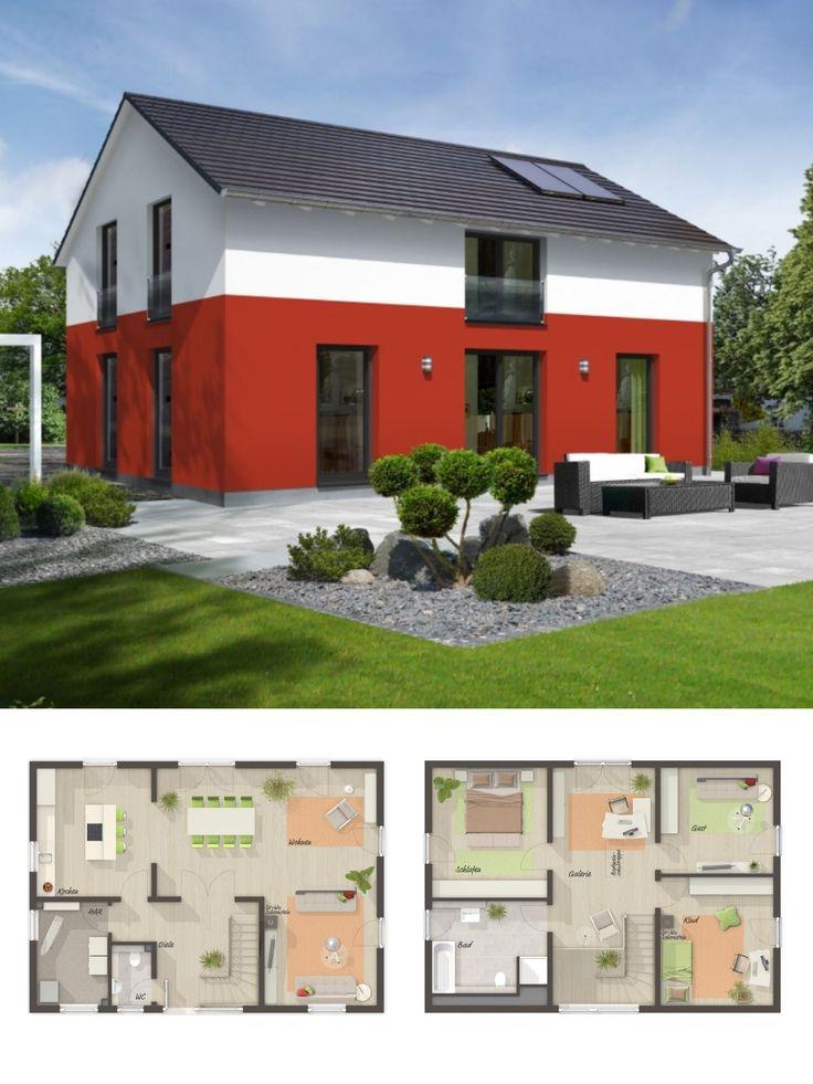 Einfamilienhaus Neubau im Landhausstil mit Satteldach