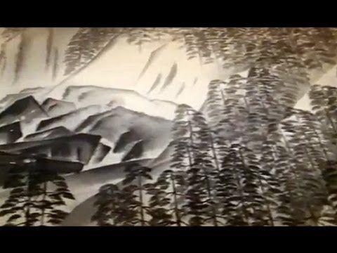 東京国立近代 (by MahoroMusic) This scroll was painted on silk when the artist was 55 y.o. and is 40 metres long. The rain falling in the mountains journeys on the streams and rivers to the sea where rain again develops. 美術館 美術にぶるっ!
