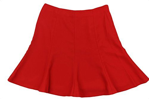 Special Offer: $34.50 amazon.com This red lined trumpet skirt byRalph Lauren is crafted in a stretchable polyester fabric with polyester lining and is designed with fit and flare silhouette bandless waist and flared hemMaterial: Shell/Lining: 100% PolyesterColor: RedPattern: SolidClosure:...
