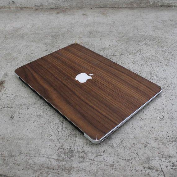 Real Walnut Macbook Wood Skin by AlvinIndustries on Etsy, $25.00