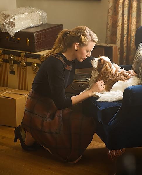 Meet Blake Lively's Furry Co-stars in The Age of Adaline  #InStyle # cavalierKCS #celebritycavaliers