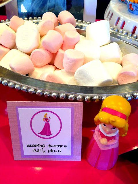 Princess Birthday Party Food - Princess Aurora Fluffy Pillows