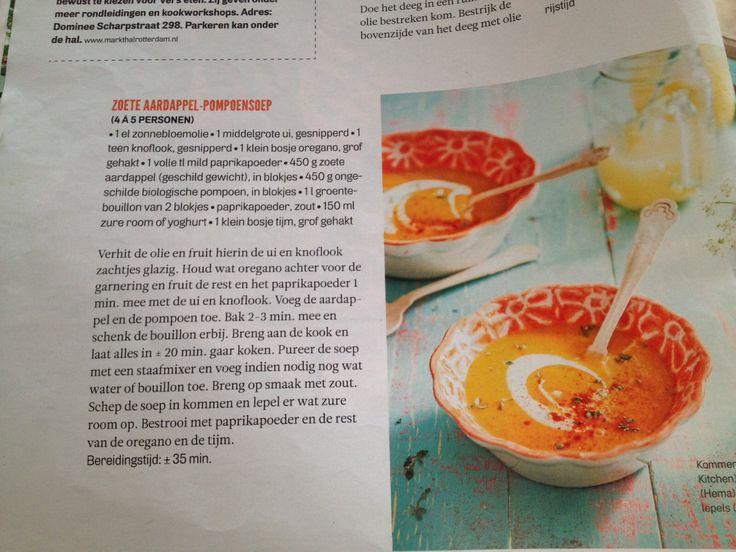 Zoete aardappel - pompoen soep