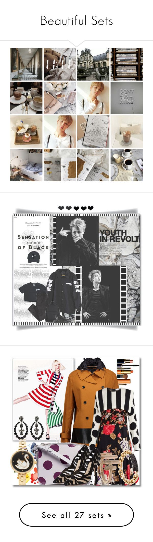 """Beautiful Sets"" by theswagmasterminyoongi ❤ liked on Polyvore featuring art, White Label, Vision, American Eagle Outfitters, New Look, Nike Golf, Hedi Slimane, NIKE, WALL and Belstaff"