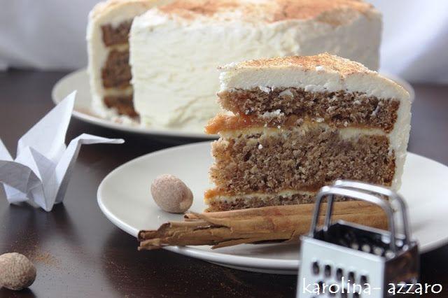 karolina-azzaro: Lieskovcová torta s karamelom