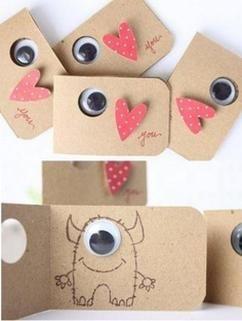 Süße Karte zum selber machen für den Valentinstag