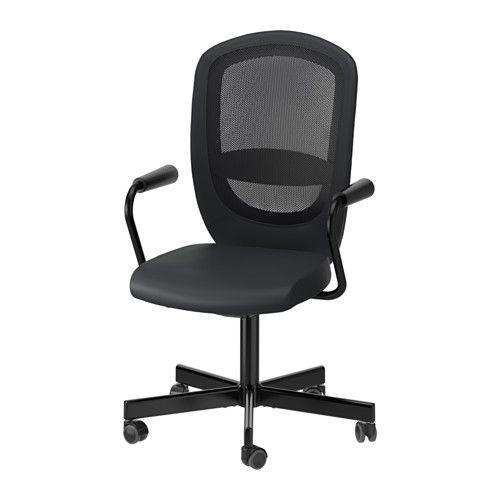 FLINTAN / NOMINELL Cadeira giratória c/braços IKEA Altura regulável para uma postura confortável.