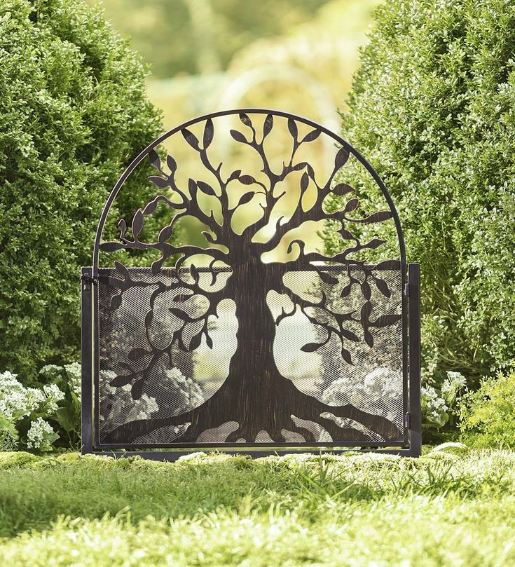 Metal Garden Gate with Tree of Life Design. Shut the front door!! NEED and WANT!!!