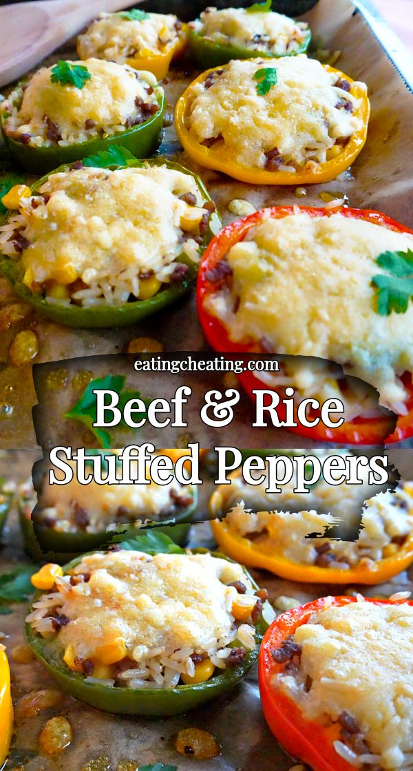 Stuffed Peppers With Ground Beef And Rice Stuffed Peppers Best Vegetable Recipes Easy Stuffed Peppers