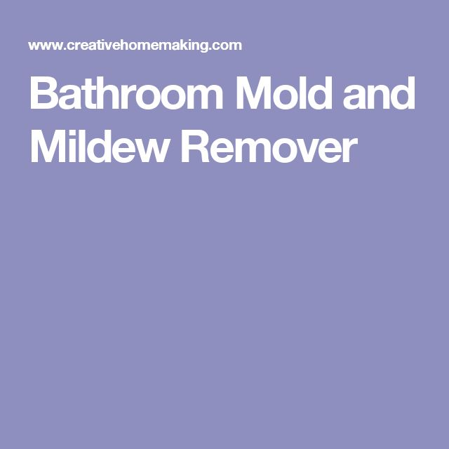 Bathroom Mold and Mildew Remover