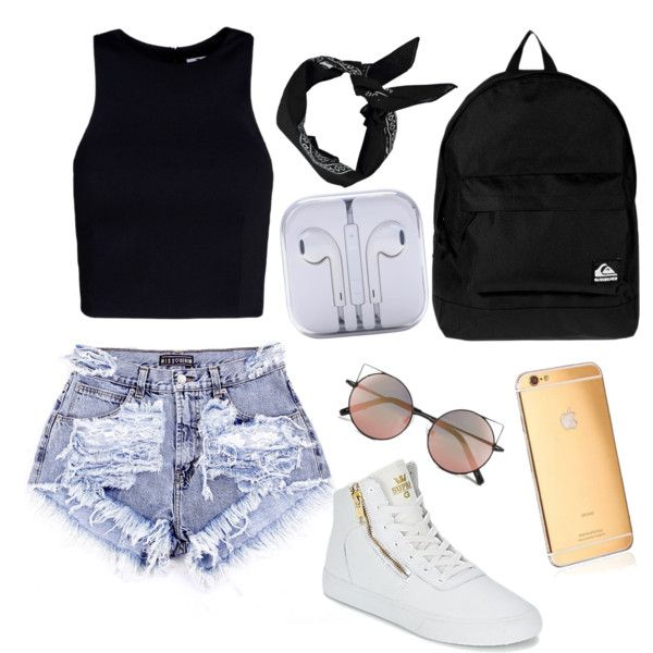 Untitled #16 by raczreka on Polyvore featuring polyvore fashion style T By Alexander Wang Supra Quiksilver Linda Farrow Boohoo Goldgenie