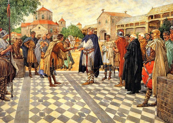 Karel de Grote te #Aken, 808. Uitzending van de #Koningsboden | #Schoolplaat #Isings