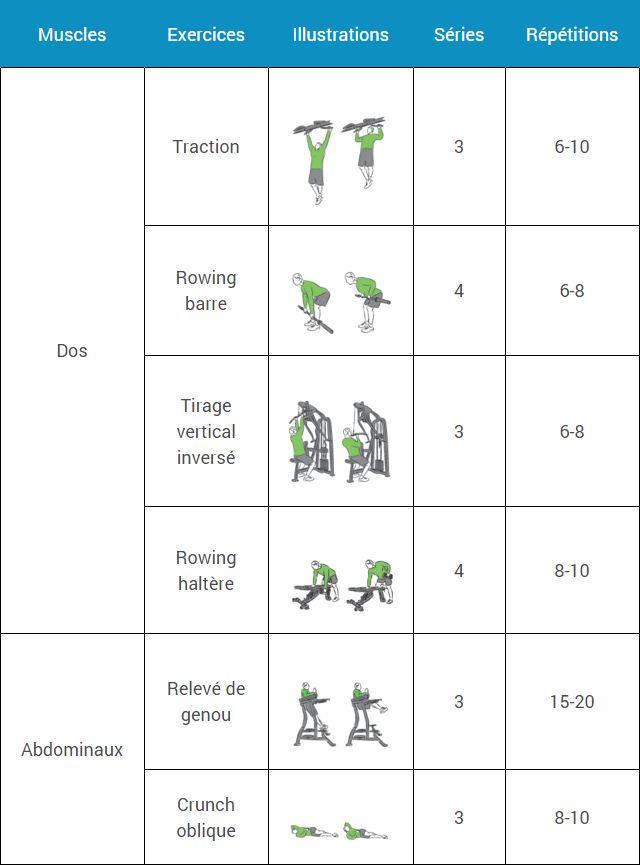 Les 23 meilleures images du tableau muscu sur pinterest for Guide musculation