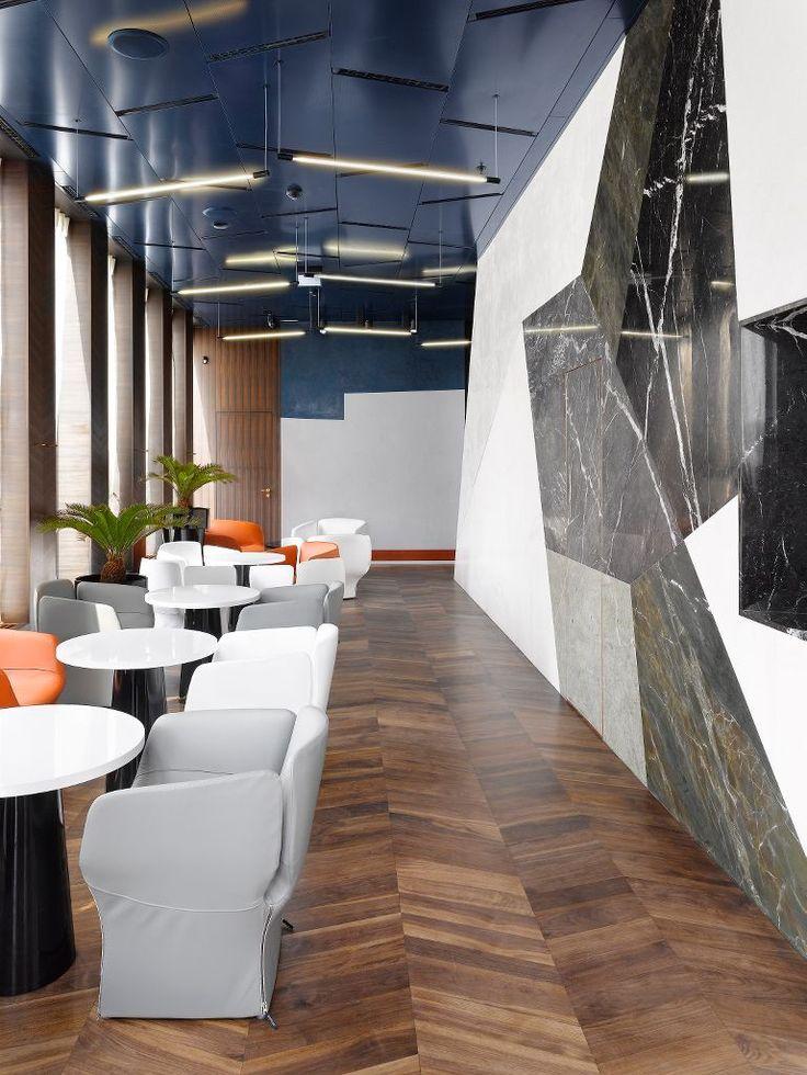 J&T BANKA CAFÉ BRNO, Armstrong Sufity Podwieszane, ceiling, acoustic, sufit akustyczny