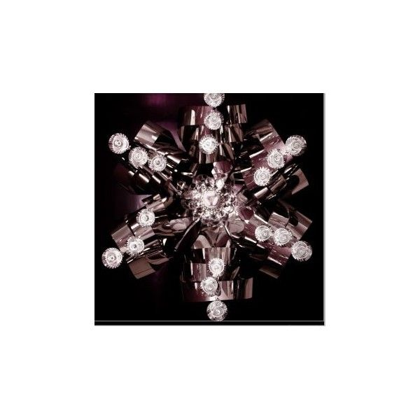 Exotic hanging light with flower design having crystal light that is emits beautiful illumination.