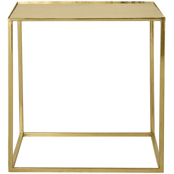 Bloomingville Cube Side Table   Gold (380 CAD) ❤ Liked On Polyvore  Featuring Home