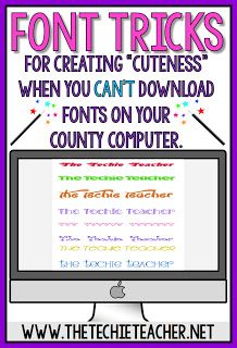 Font tricks for when you can't download fonts on your county computer.