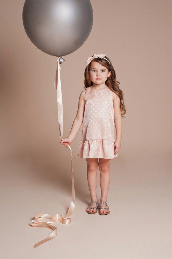 Pastels textured spots from Hucklebones Summer 2014 Kidswear