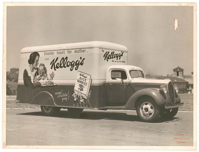Kellogg's van for A.H. Peters & Co. at Sydney University / Milton Kent.  From the collections of the Mitchell Library, State Library of New South Wales http://www.sl.nsw.gov.au  Information about this photograph: http://acms.sl.nsw.gov.au/item/itemDetailPaged.aspx?itemID=421795