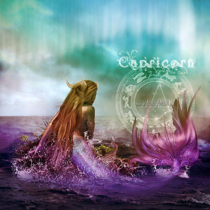 Capricorn - The Sea-Goat by BloomingRoseXeniia