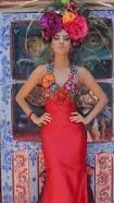 Resultado de imagen para vestidos bordados oaxaqueños