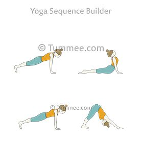 flow iv yoga vinyasa iv  warm up yoga upward dog