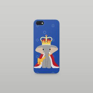 blue elephant iPhone 5/5s case | by itoyoshi | https://suzuri.jp/3ponds_shop