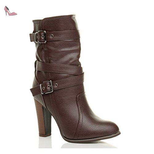 8 -la cheville contre la faible talon de chaussures à lacets punk gothique court bottes plates. OWtAEpj