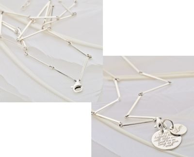 Palas Jewellery - BAR CHAIN - Sterling Silver. An adjustable sterling silver bar chain with a large parrot clasp to hold your collection of Palas charms. Create a little cluster of charms to represent you, those you love or life's milestones.