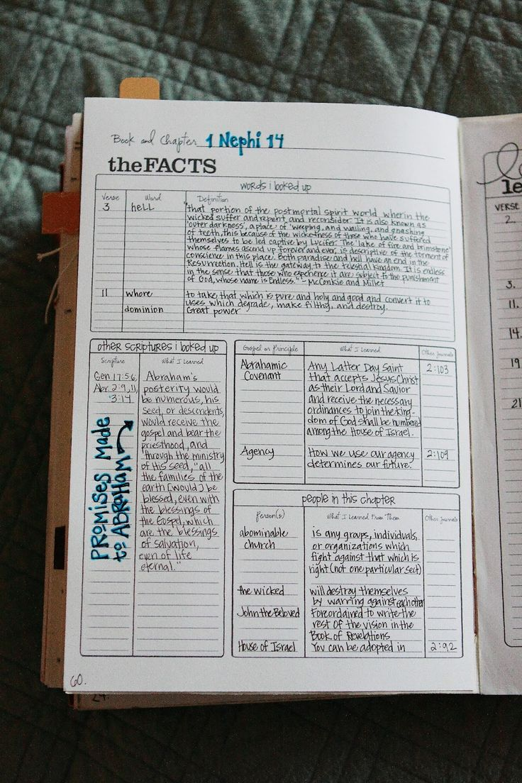 Scripture Chapters Journaling Template