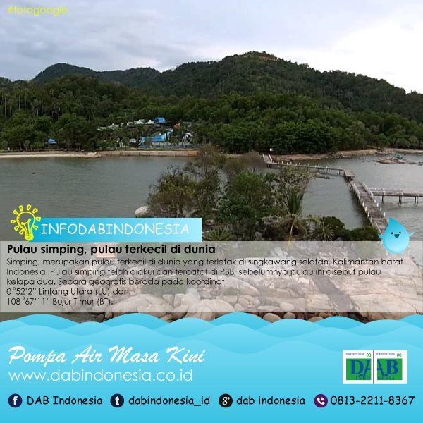Pulau Simping adalah pulau terkecil di dunia dan telah diakui dan tercatat di PBB. Sebelumnya pulau ini disebut Pulau Kelapa Dua.  Pulau Simping terdiri dari pasir dan batu, dan beberapa pohon diatasnya. Di dalam pulau ini terdapat kelenteng disinilah para penghuni yang keturunan Cina memanjatkan doa.  Secara geografis berada pada koordinat 0o 52′ 2″ Lintang Utara (LU) dan 108o 67′ 11″ Bujur Timur (BT). Penduduk setempat menamakannya Pulau Simping, sebelumnya pulau ini lebih dikenal dengan…