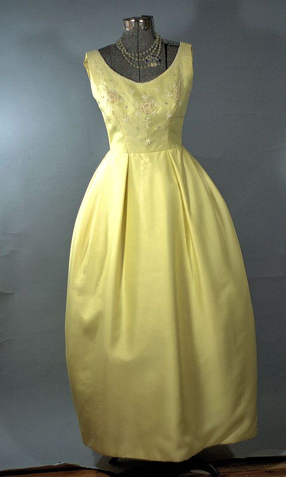 Butter yellow prom dresses