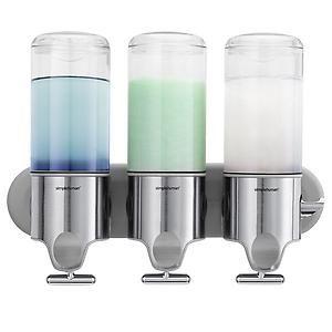 simplehuman Triple Shampoo & Soap Dispenser