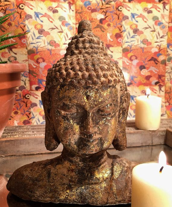 Small+Vintage+Buddha+Gold+and+Rusted+Patina+by+RachelPrideGroup