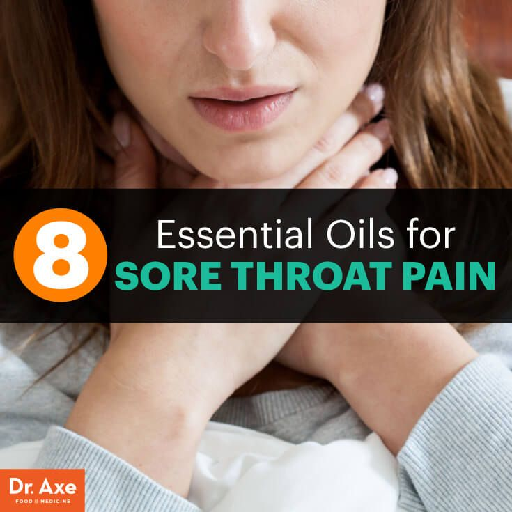 8 Essential Oils for Sore Throat Pain - Dr. Axe