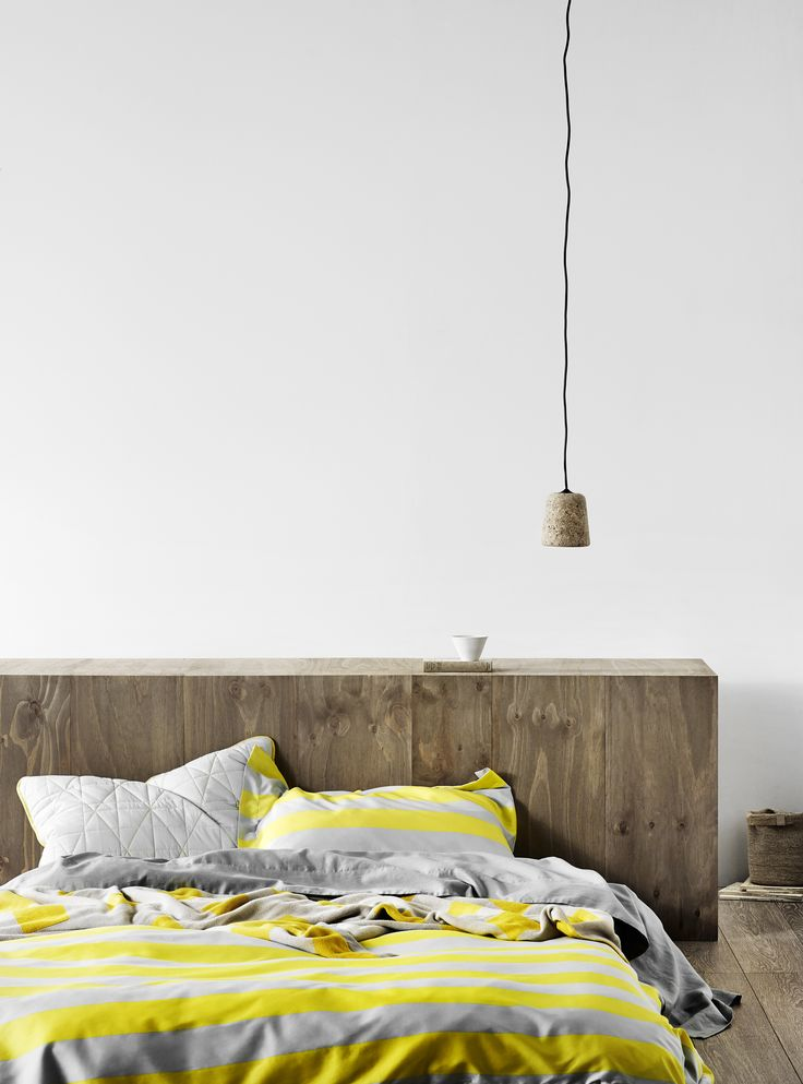 Wide Stripe quilt cover in Bright Yellow, AURA Home, Spring/Summer 2015